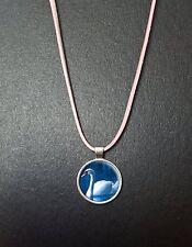 """Swan oiseau pendentif sur un 18"""" rose cordon collier anniversaire cadeau N10"""