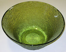 Vintage Fire King Anchor Hocking Soreno Large 4 Quart Bowl Avocado Green 1960s
