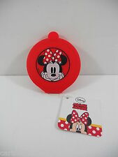SPECCHIETTO DA BORSA   DISNEY MINNIE IN SILICONE  7,5 DIAMETRO