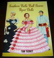 Southern Belle Ball Gowns Paper Dolls Civil War Paperback Book brand new history