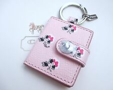 Coach Flower Floral Picture Frame Charm Keychain Key Chain Fob Pink