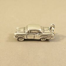 .925 Sterling Silver 3-D HOT ROD CHARM NEW Pendant Classic 50'S Car 925 VH43