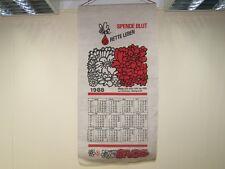 Alter DRK Stoffkalender 1988 Spende Blut Werbekalender