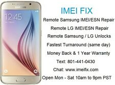 ** REMOTE ** Galaxy Note 5 S6 Edge+ Bad IMEI ESN Repair Service (SAME DAY)