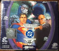 VS System DC Superman Man of Steel 1st Edition Booster Box