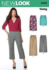 NEW LOOK SEWING PATTERN MISSSES' EASY PANTS TROUSERS & SKIRT  SIZE 8 - 20  6419
