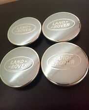 NEW GENUINE OE Silver Land Rover Alloy Centre caps Discovery Freelander range