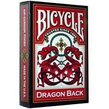 1 Deck RED DRAGON BACK Bicycle 309 Playing cards bold vibrant red gold New Poker