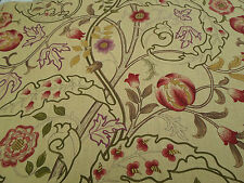 William Morris Curtain Fabric 'Mary Isobel' 3.3 METRES Red/Gold 100% Linen
