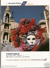 Airline Timetable - SN Brussels - 26/03/06 - Edition 1 - S