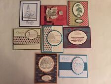 "8 Handmade ""BIRTHDAY FOR HIM"" Cards with envelope!.Stampin +"