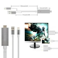 Aluminum AirPlay Lightning 8 Pin to HDMI/HDTV Adapter Cable For iPhone 5 5s 6 6s