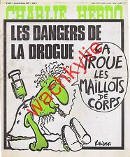 Charlie Hebdo n°326 du 10/02/1977 Les dangers de la drogue Reiser Seringue