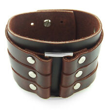 Mechanic's Wrist Guard Brown Leather Steampunk Cuff Bracer Bracelet