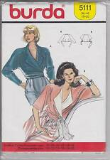 Vintage Burda Pattern 5111 Size 10 - 20 Wrap Top  Blouse