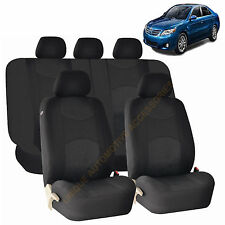 BLACK AIRBAG & SPLIT Bench SEAT COVERS 9pc SET for TOYOTA CAMRY TACOMA
