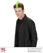 Neon Green Clip On Mohican Wig Punk Nu Rave Rocker Mohawk Fancy Dress