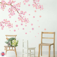 3D Pink CHERRY BLOSSOM WALL Sticker Art Home Decor Graphic Flowers Petals Tree