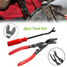 CAR DOOR CARD PANEL TRIM CLIP REMOVAL PLIERS & UPHOLSTERY REMOVER PRY BAR TOOL