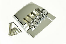 Genuine Hipshot 4 String Rickenbacker replacement bridge Chrome plated Brass