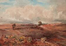 PONY & TRAP IN LANDSCAPE Antique Watercolour Painting ALFRED T FLETCHER 1900