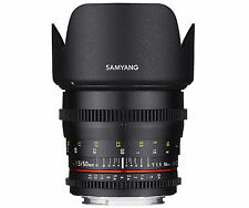 Samyang 50mm T1.5 Cine VDSLR AS UMC Full Frame Lens for Sony-E Mount -Warranty