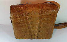 VINTAGE TAXIDERMY ALLIGATOR SKIN HANDBAG SHOULDER BAG - SCUTES REVERSE