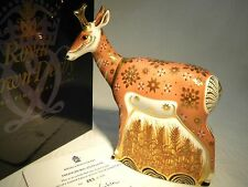 ROYAL CROWN DERBY LTD ED  383/950 PRONGHORN ANTELOPE PAPERWEIGHT   MIB