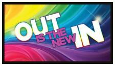 Fridge Magnet: OUT Is The New IN - LGBT (Lesbian, Gay, Bi-Sexual, Transgender)
