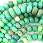 """10mm faceted green chrysoprase rondelle beads 7.5"""" strand"""