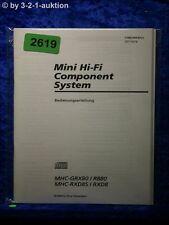 Sony Bedienungsanleitung MHC GRX80 /R880 /RXD8S /RXD8 (#2619)