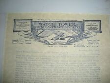 1916 Death Notice of C.T. Russell Watchtower Jehovah IBSA