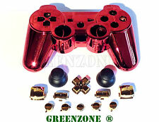 Iron Man Custom PS3 Controller Hydro Dipped Shell Mod Kit & Buttons