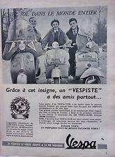 page de publicité    SCOOTER  VESPA  en 1956  ref. 42549
