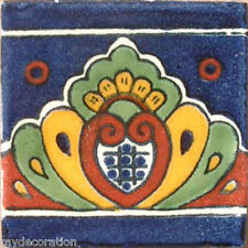 C#064) MEXICAN TILE CERAMIC TALAVERA MEXICO HAND MADE ART TALAVERA TILE