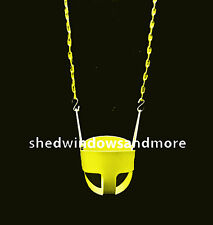 Full Bucket Swing Yellow with Chain, Toddler Bucket Swing, Swingset Swing Seat,