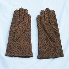 Vintage Van Raalte Grove Animal Print Leather Gloves For Evening or Rockabilly