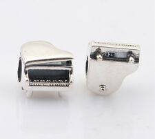 PIANO 925 Sterling Silver Solid European Charm Bead for Bracelet