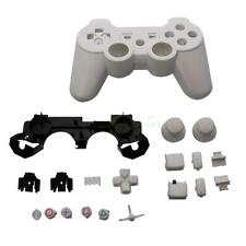 White Plastic Wireless Controller Shell Case + 19 Buttons Kit for PS3 #113