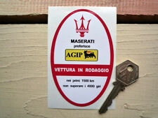 Maserati  Under Bonnet Door Jamb style Service Sticker