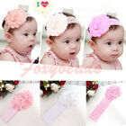 Sweet Baby Toddler Girl Lace Flower Hair Band Headband Soft Elastic Headdress
