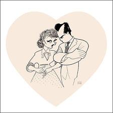 AL HIRSCHFELD Hand-Signed: I LOVE LUCY: LUCILLE BALL, DEZI ARNAZ; MARGO FEIDEN