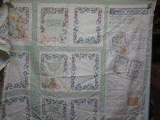 2 Daisy Kingdom Memory Lane Fabric Panels Toy Treasures Picture Quilt & Book