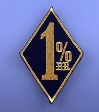 Embroidered Patch Iron Sew Logo 1% ER One Percent Biker chopper Outlaw gold
