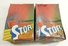 Lot of (2) Comic Stor Ultra Pro 100-Count Comic Sleeves Boxes ^ Damaged