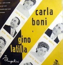 """CARLA BONI &  GINO LATILLA -  RARE EP 7""""  MALIZIUSELLA +3 - -ORIGINAL ITALY 1957"""