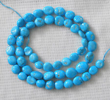 "Real Sleeping Beauty Turquoise Nugget loose Beads  18"" Natural Blue Jewelry# 922"