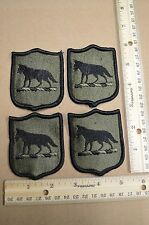 Lot of 4 South Dakota Army National Guard Subdued Embroidered Unit Patches