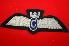 BRITISH CIVIL AIRLINE PILOT WING BADGE CLASSIC AIR CHARTER ? AIRWAY BULLION WIRE