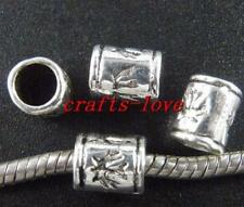 30pcs Tibet Silver Nice Tube Spacers 9x7mm A189-410